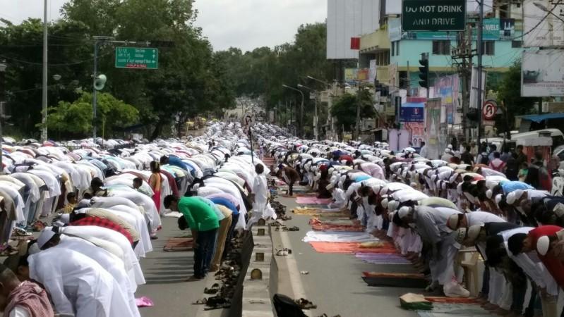 Muslims offer prayer on Eid ul-Fitr