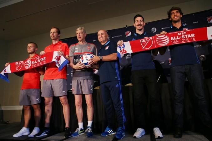 Arsenal Jack Wilshere Petr Cech Arsene Wenger Dominic Kinnear Sacha Kljestan Kaka MLS All-Stars