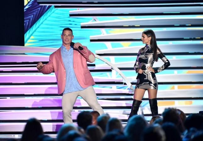Hosts John Cena and Victoria Justice at Teen Choice Awards 2016