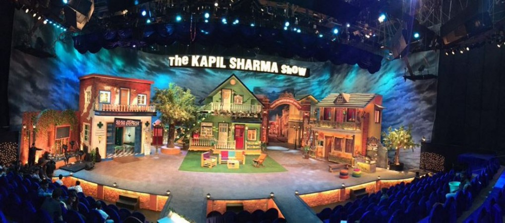 "Scriptwriter of ""The Kapil Sharma Show"" arrested in double murder case. Pictured: The set of comedy show ""The Kapil Sharma Show."""
