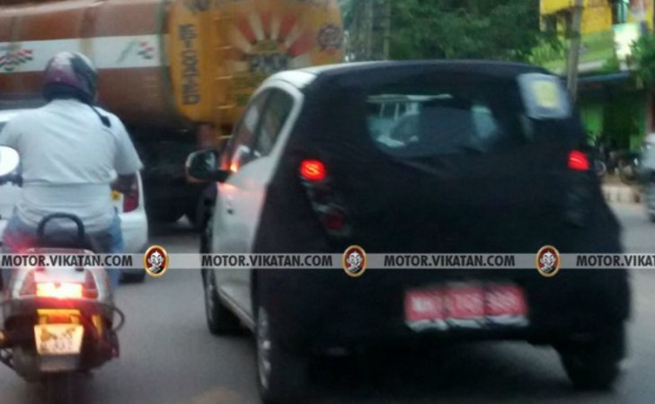 Next-gen Chevrolet Beat spotted on test again