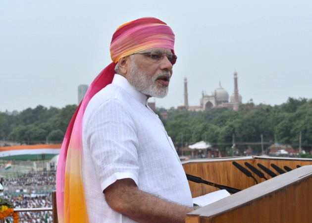 Prime Minister Narendra Modi addresses the nation on the occasion of the 70th Independence Day from the ramparts of Red Fort in Delhi on Aug. 15, 2016