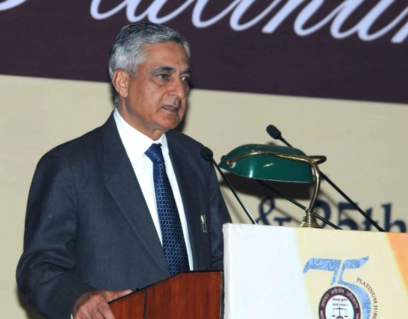 Chief Justice of India Justice TS Thakur addresses the opening ceremony of the two-day Platinum Jubilee Celebrations of the Income Tax Appellate Tribunal, in New Delhi on Jan. 24, 2016