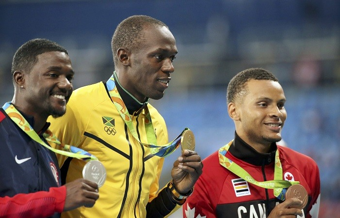 Justin Gatlin Usain Bolt Andre De Grasse
