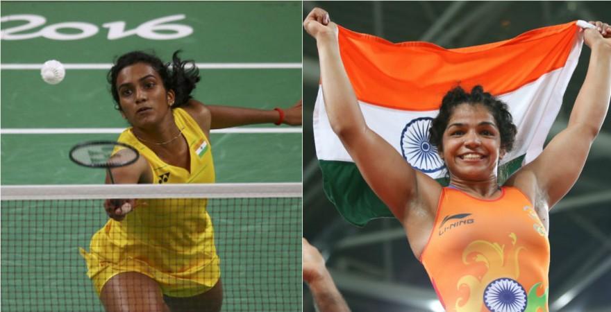 PV Sindhu and Sakshi Malik