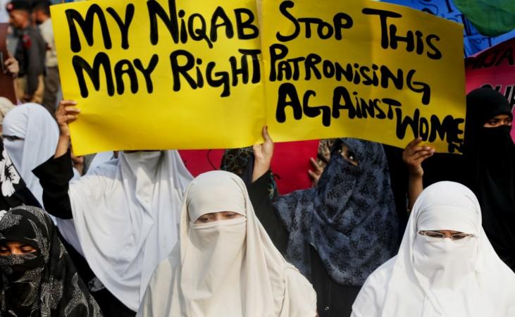 Burqa ban protest