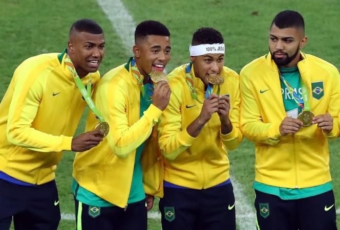 Brazil Neymar Gabriel Jesus Barbosa gold medal Rio Olympics