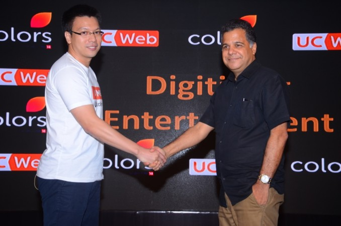 Robert Bu, General Manager, UCWeb India with Raj Nayak CEO Colors TV