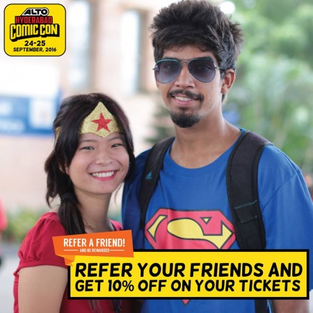 Cosplayers will get exciting prizes at the upcoming Alto Hyderabad Comic Con