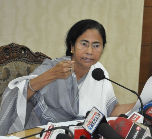 West Bengal Chief Minister Mamata Banerjee addresses a press conference at Nabanna in Howrah on Aug. 20, 2016.