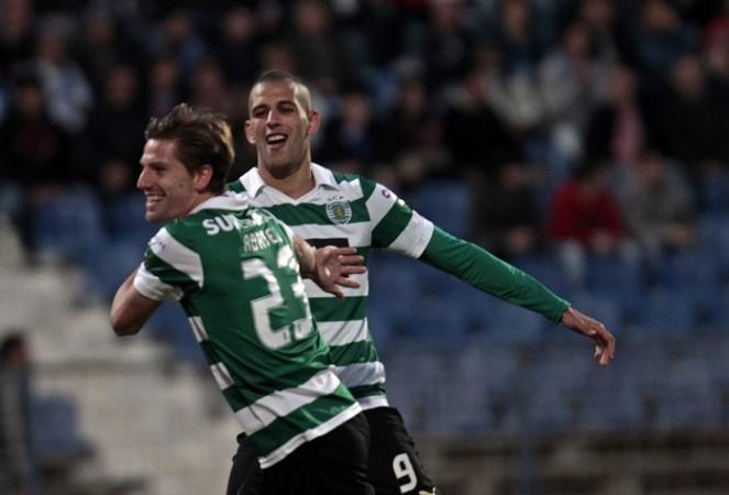 Adrien Silva Islam Slimani Sporting Lisbon