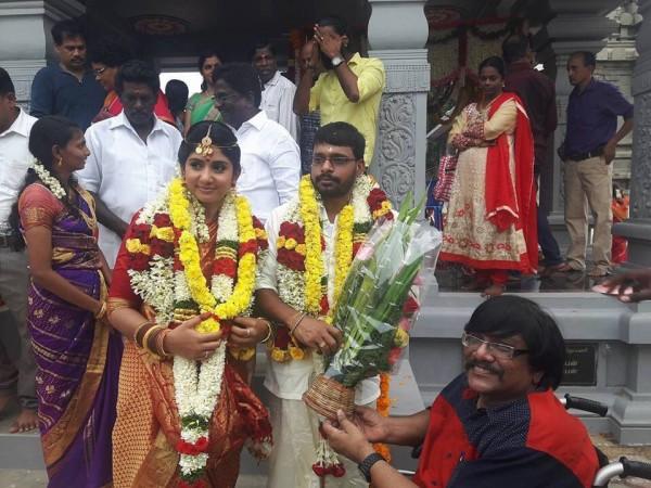 Raju Murugan and VJ Hema Sinha wedding photo