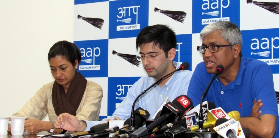 AAP leader Ashutosh addresses a press conference in New Delhi on July 27, 2016.