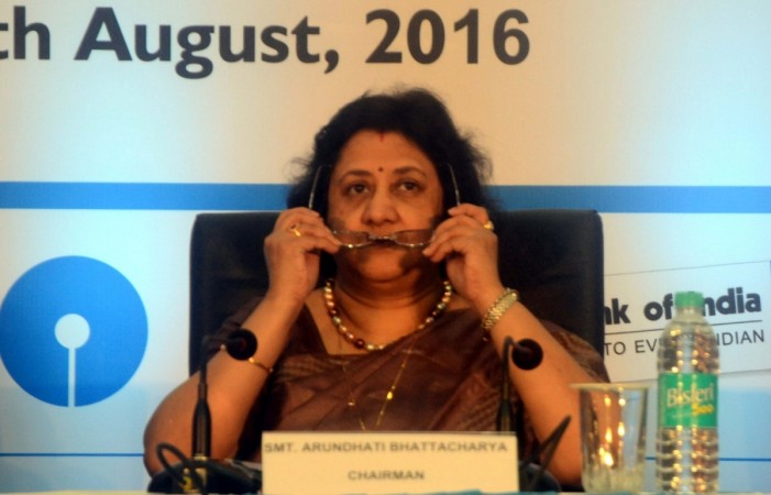 SBI Chairman Arundhati Bhattacharya sbi share price retail loans corporate loans npas lending rates interest consumers customers rbi cap corporate lending guidelines norms