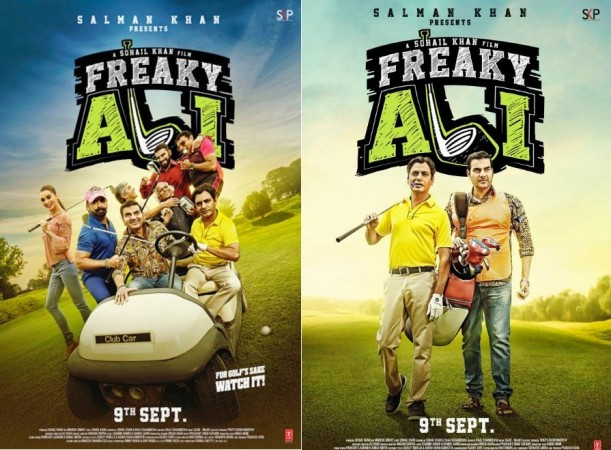 """Nawazuddin Siddiqui starrer """"Freaky Ali"""" day 4 box office collection. Pictured: """"Freaky Ali"""" posters."""