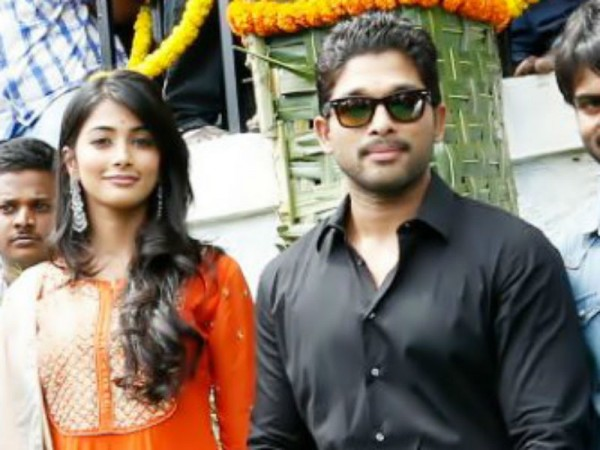 Pooja Hegde and Allu Arjun