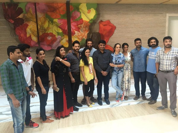 Celebrities getting ready for the launch of Celebrity Badminton League