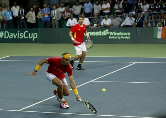 Rafael Nadal Marc Lopez Spain Davis Cup India