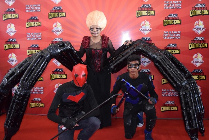 Cosplayers at Hyderabad comic con 2016