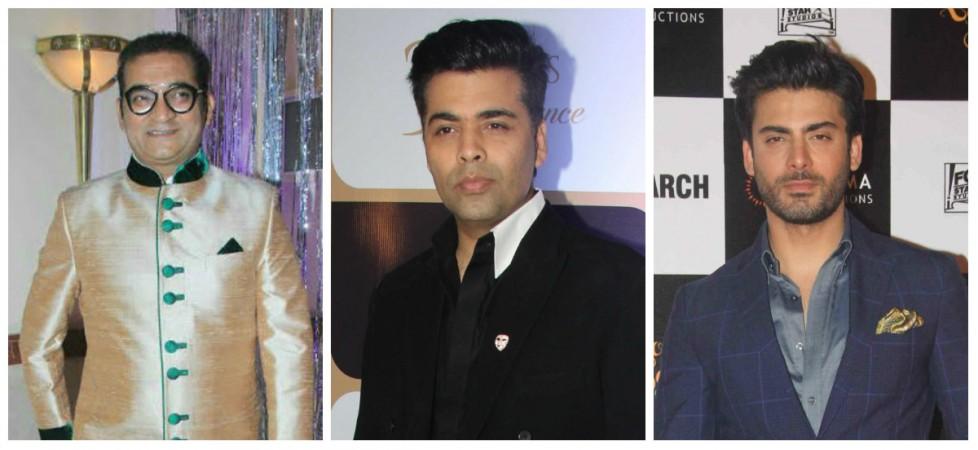 Abhijeet Bhattacharya, Karan Johar and Fawad Khan