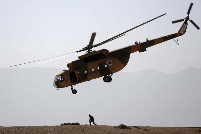 Afghan army helicopter crash