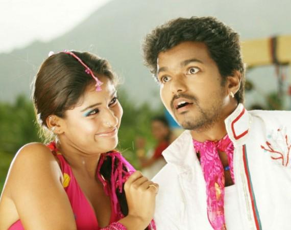 Vijay with Nayanthara