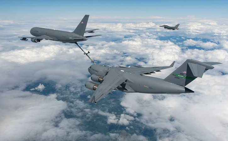Boeing's KC-46, mid-air refueling demo