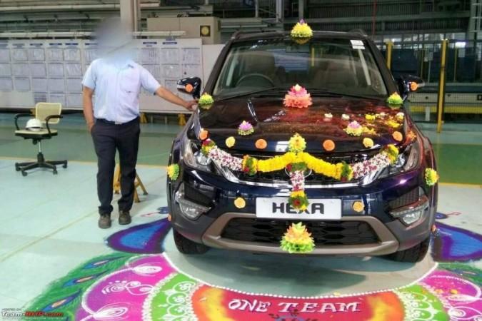 Tata Hexa enters production in India