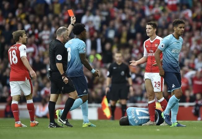 Granit Xhaka Arsenal red card Jon Moss