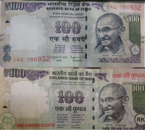 Mumbai girl says how she was cheated by an auto driver by giving Children Bank of India's Rs. 100 note.