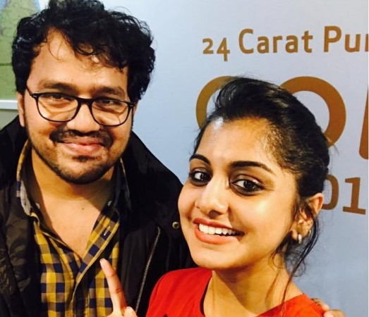 Meera Nandan with Adarsh Aathi