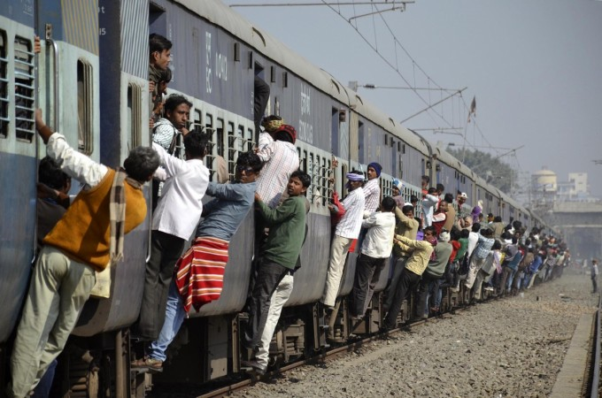 Passenger train in the eastern Indian city of Patna