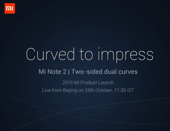 Xiaomi Mi Note 2 official launch teaser confirms key display feature; What do we know so far