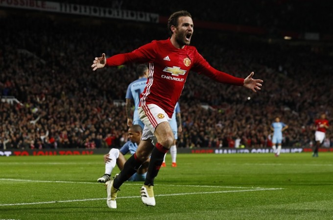 Juan Mata Manchester United Manchester City