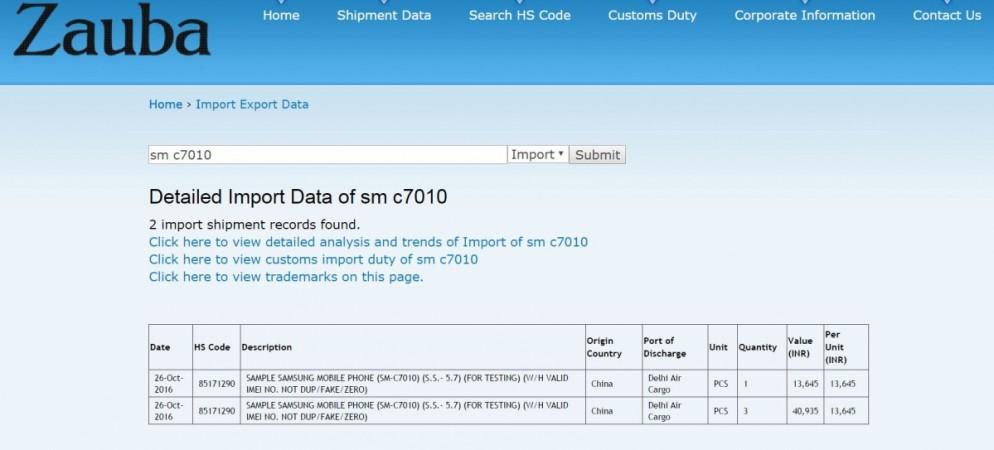 Samsung Galaxy C7 Pro under testing; screen size, price revealed