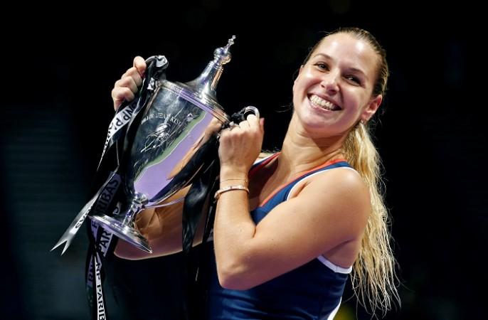 Dominika Cibulkova WTA Finals trophy