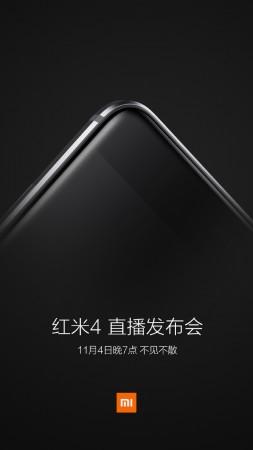 Xiaomi Redmi 4 launching on Nov. 4