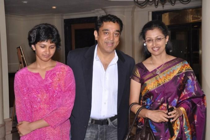 Kamal Hassan with Gautami and Subbulakshmi
