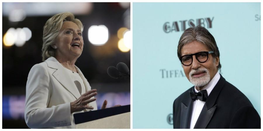 Hillary Clinton and Amitabh Bachchan