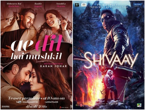 Check out Ae Dil Hai Mushkil (ADHM), Shivaay (Shivay) 8-day box office collection