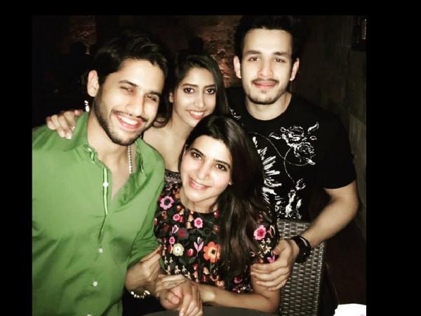 Naga Chaitanya and Akhil Akkineni's dinner date with Samantha and Shyria Bhupal