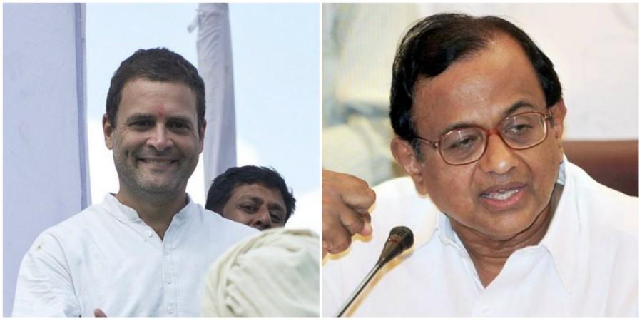 Rahul Gandhi and P Chidambaram