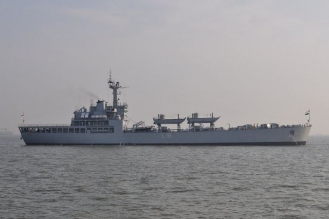 Indian ship in Mauritius