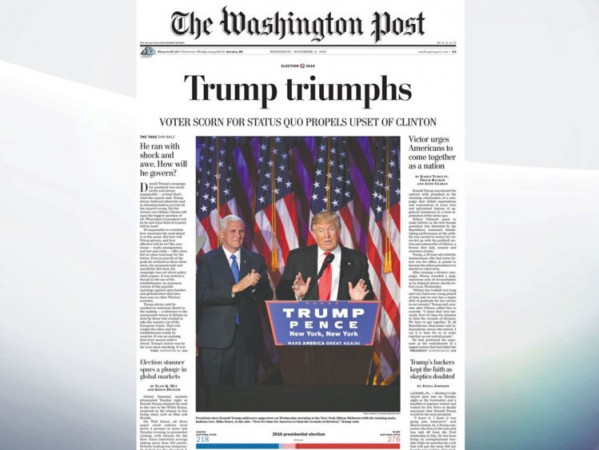 Washington post headline after trump victory