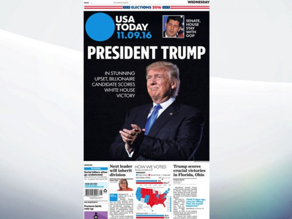 USA today reacts to trump presidency