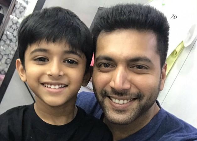 Jayam Ravi with his son Aarav