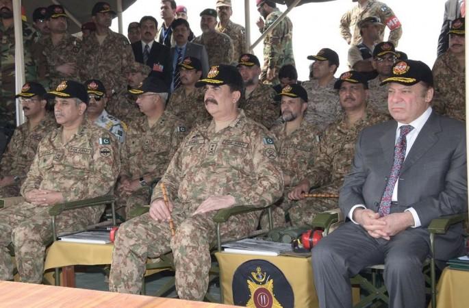 Pakistani military drills near India border