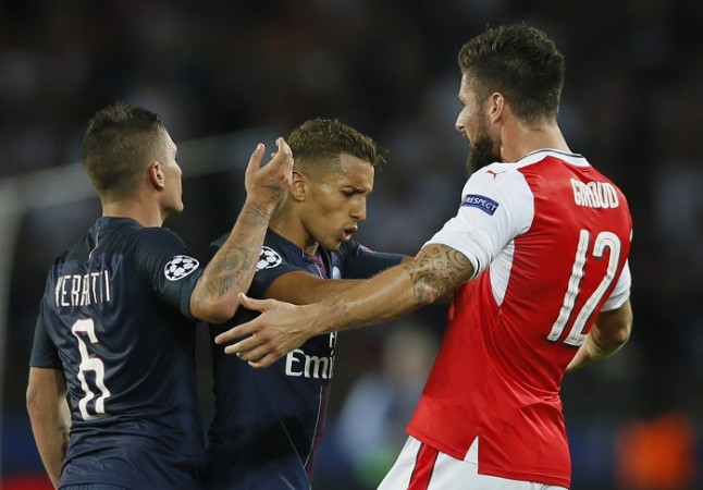 Marco Verratti Marquinhos PSG Olivier Giroud Arsenal