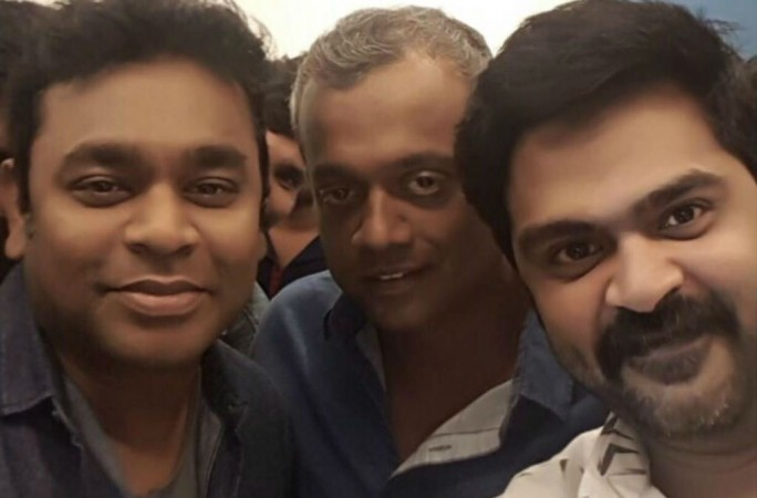 Simbu's Selfie with director Gautham Menon, musician AR Rahman