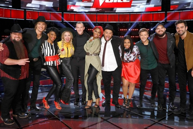 'The Voice' Season 11 Live Shows 2016: Complete list of ...